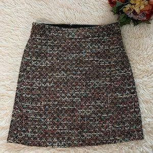 Ann Taylor Tweed Sequins Skirt NWT Multi Color